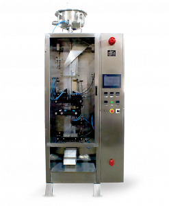 Pouch packaging machine for packing of milk in pouches